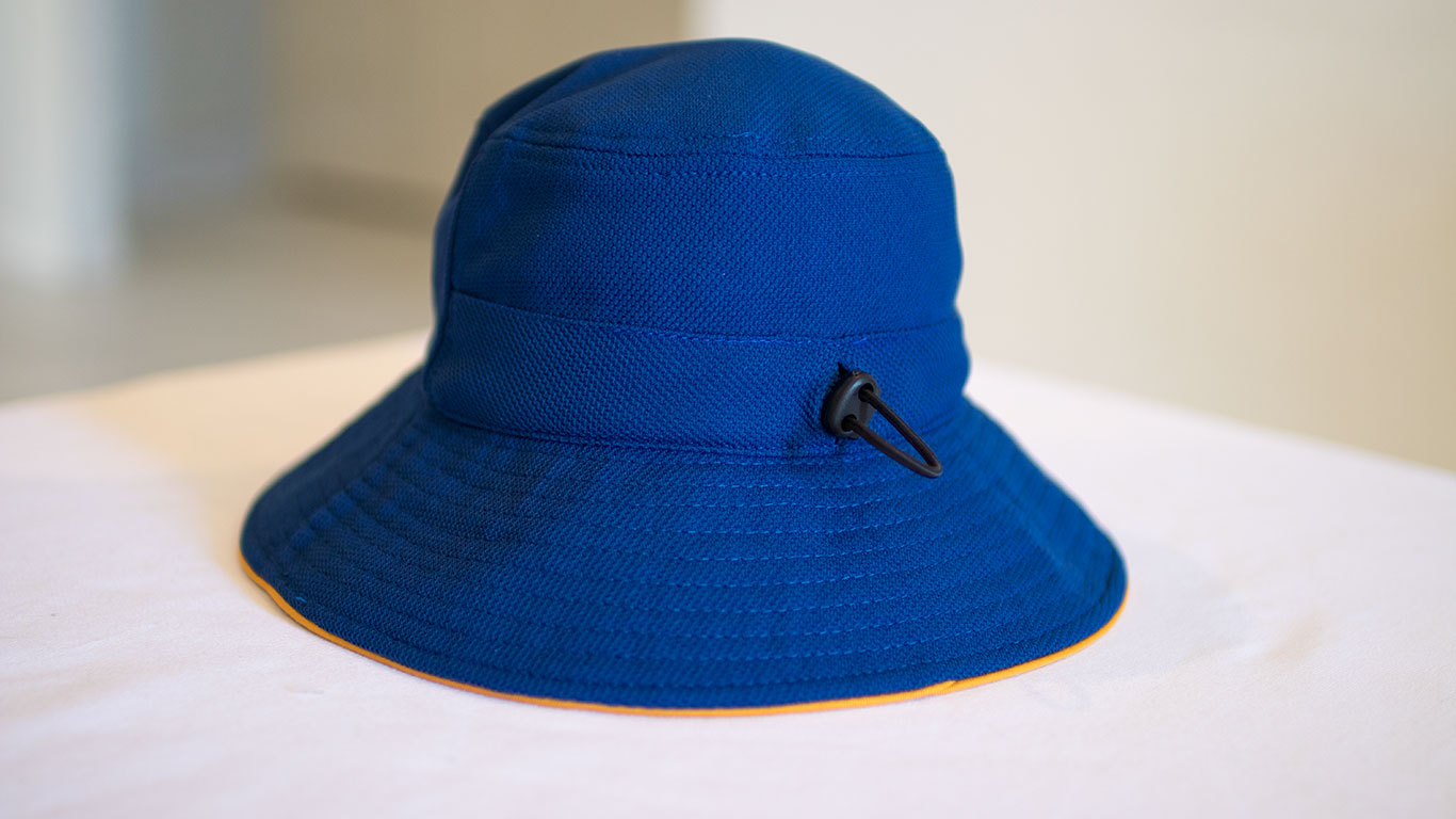 Back: Bucket Hat (Reversible & Adjustable)